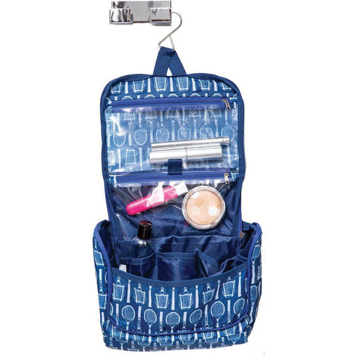 Wimbledon Navy Hanging Toiletry Bag - rockflowerpaper LLC
