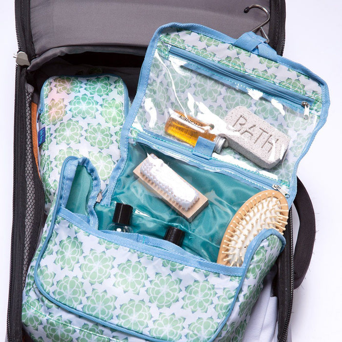 Succulent Green Hanging Toiletry Bag - rockflowerpaper LLC