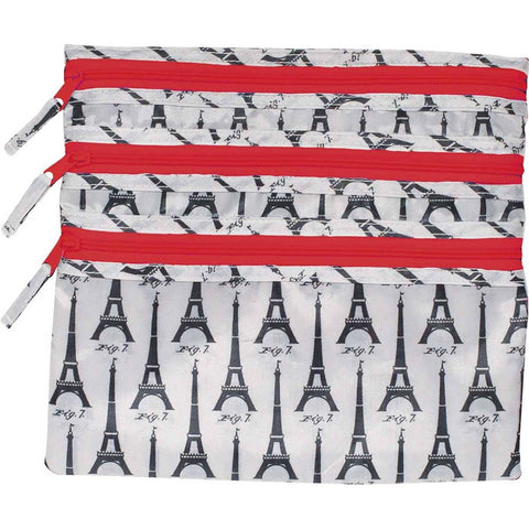 Eiffel Tower White Travel Organizer Pouch