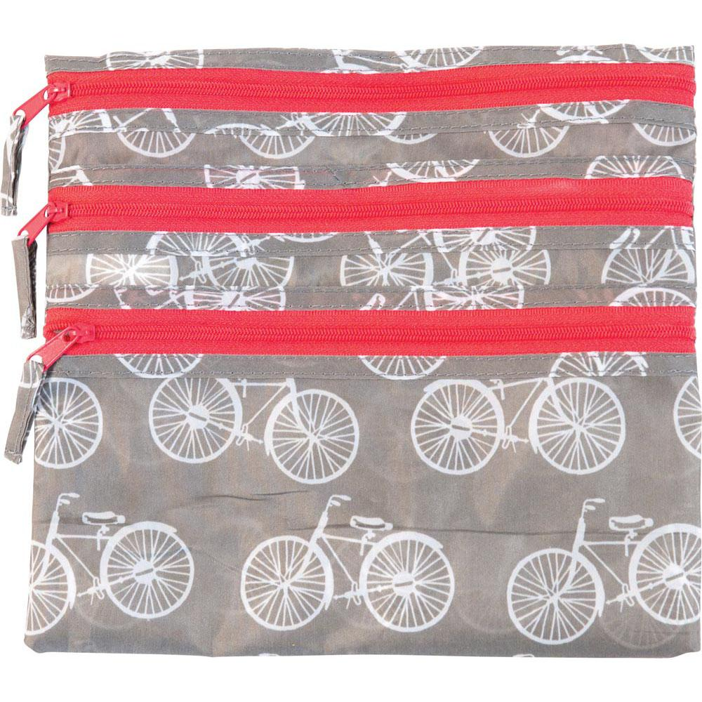 Summer Bikes Grey Travel Organizer Pouch