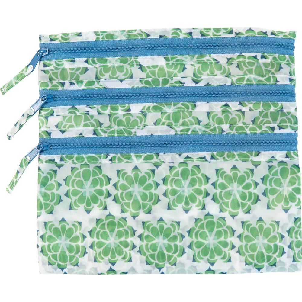 Succulent Green Travel Organizer Pouch