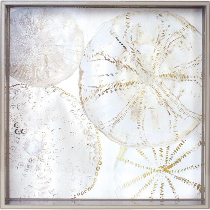 Coastal Shells 15 inch Square Lacquer Art Serving Tray - rockflowerpaper LLC