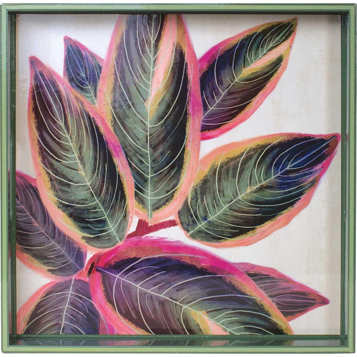 Rubber Plant 15 inch Square Lacquer Art Serving Tray - rockflowerpaper LLC