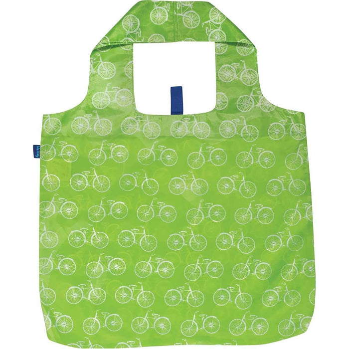 Summer Bikes Lime Blu Bag Reusable Shopping Tote - rockflowerpaper LLC