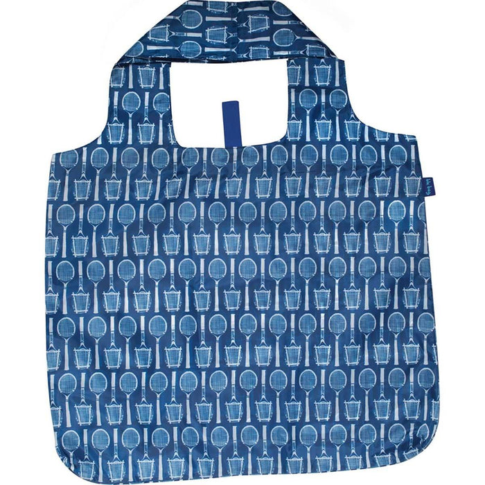 Wimbledon Navy Blu Bag Reusable Shopping Tote - rockflowerpaper LLC