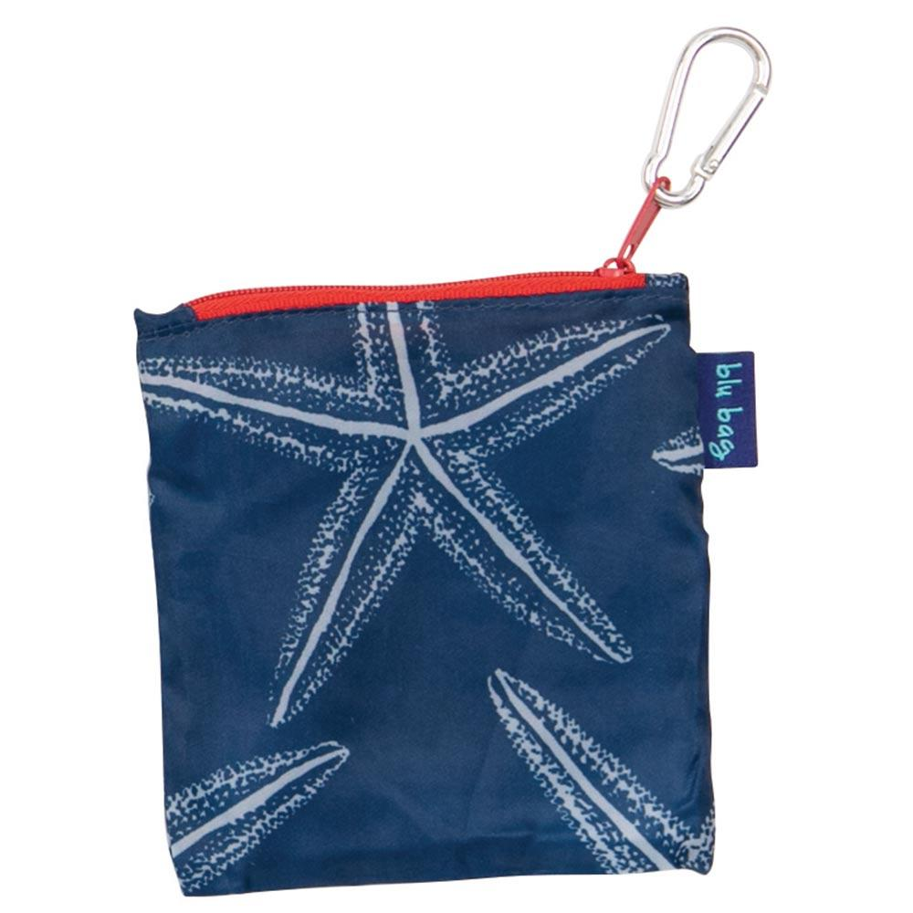 Starfish Navy Blu Bag Reusable Shopping Tote - rockflowerpaper LLC
