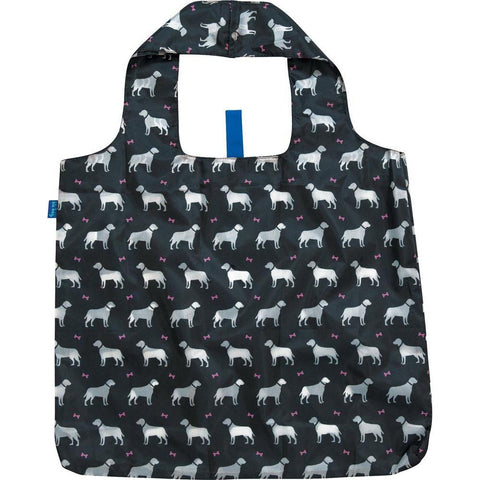 Dogs Black Blu Bag Reusable Shopping Bags