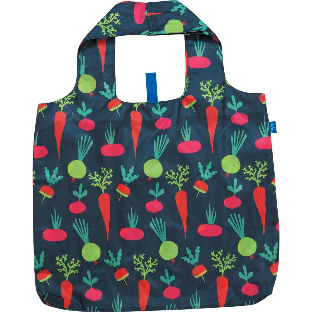 Root Veggies Blue Blu Bag Reusable Shopping Bags