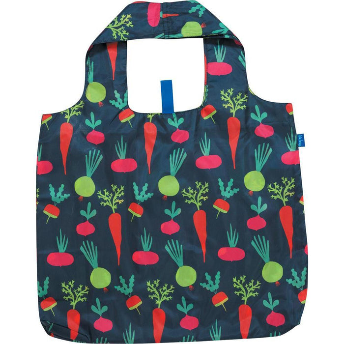 Root Veggies Blue Blu Bag Reusable Shopping Bags - rockflowerpaper LLC