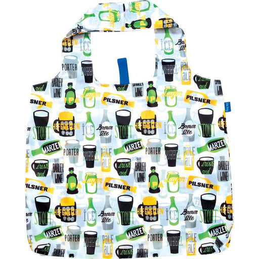 Beer Green Blu Bag Reusable Shopping Bags - rockflowerpaper LLC