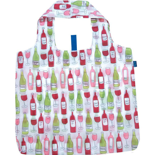 Wine Purple Blu Bag Reusable Shopping Bags - rockflowerpaper LLC