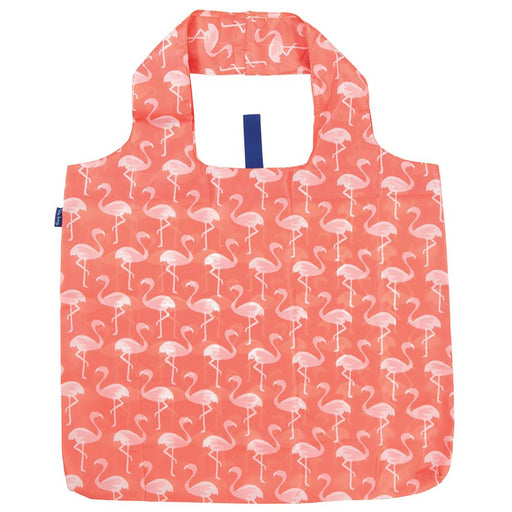 Pink Flamingos Blu Bag Reusable Shopping Bags - rockflowerpaper LLC