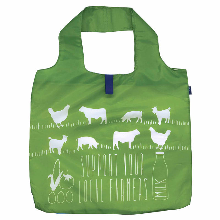 Local Farmers Blu Bag Reusable Shopping Tote - Machine Washable