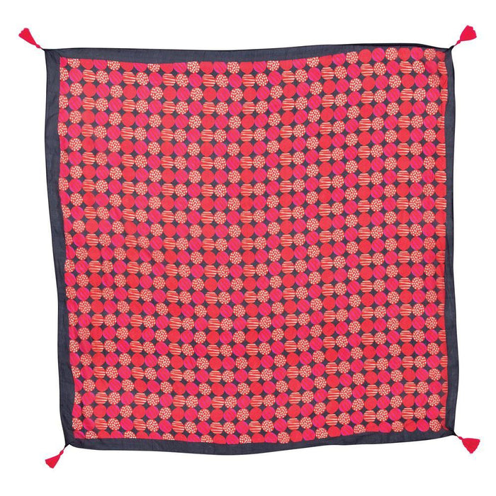 Kimberly Magenta Square Silk Scarf