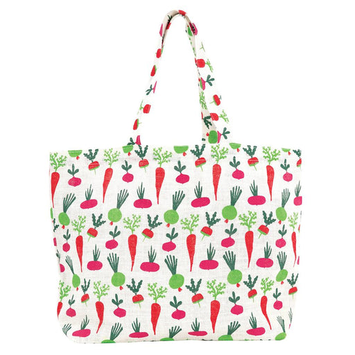 Root Veggies Biodegradable blu Jute Tote - rockflowerpaper LLC