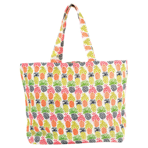 Pineapple Party Biodegradable blu Jute Tote - rockflowerpaper LLC