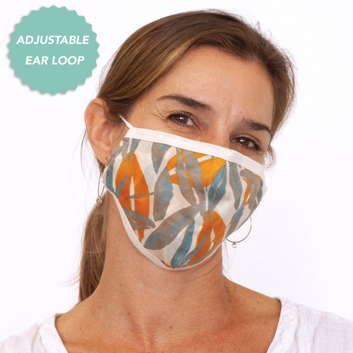 Lilith Grey Reusable & Adjustable 100% Cotton Face Mask