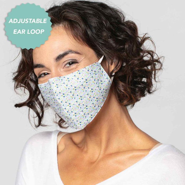 Larissa Blue Reusable Cotton Face Mask