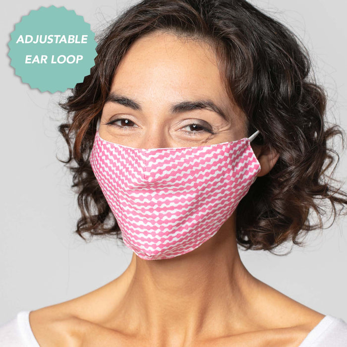 Waverly Pink Reusable Cotton Face Mask