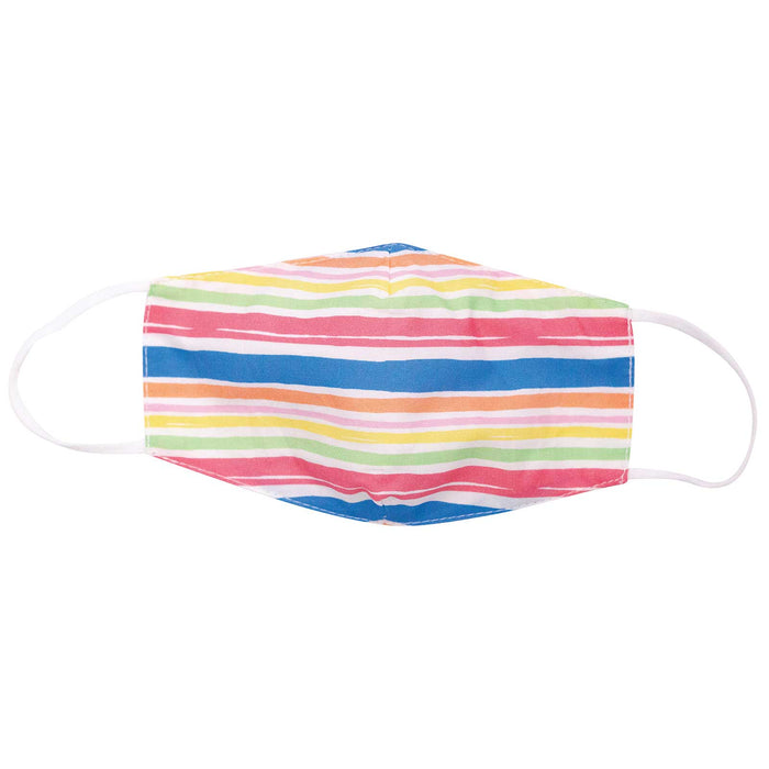 Beach Stripes Blue Reusable Cotton Kid's Mask