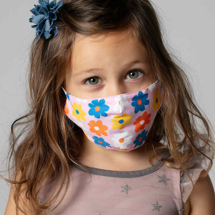 Petals Pink Reusable Cotton Kids Mask