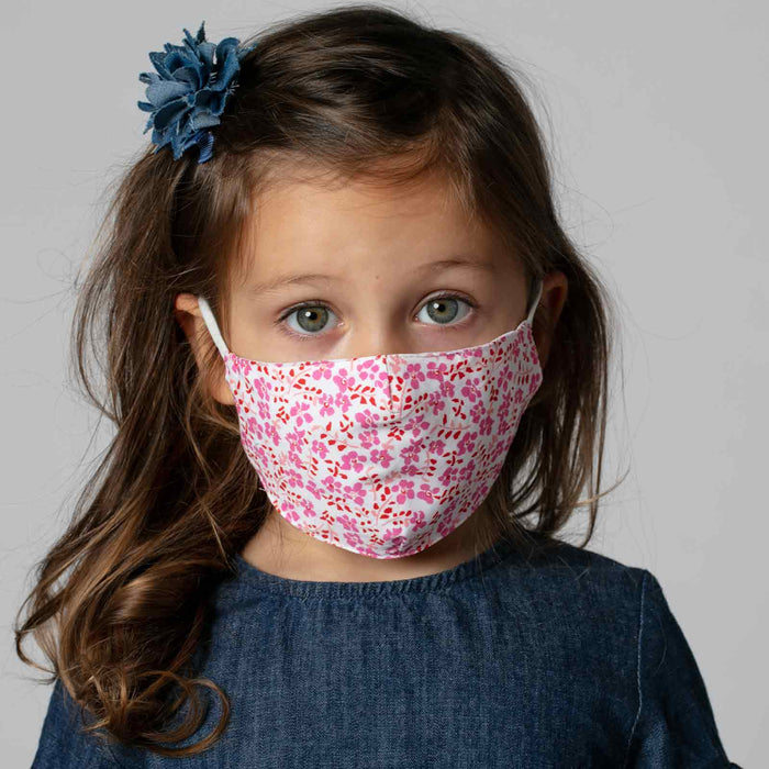 Colette Pink Reusable Cotton Kid's Mask