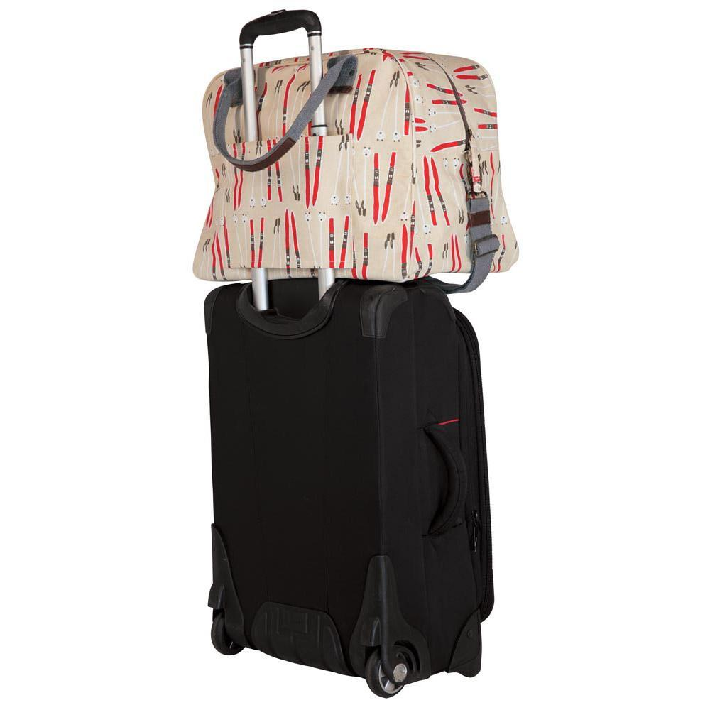 Alpine Ski Red Overnighter Bag