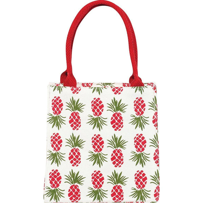 Holiday Pineapple Itsy Bitsy Gift Bag, Pack of 4 (Price is per Bag) - rockflowerpaper LLC