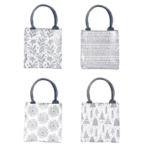 Silver Metallic Itsy Bitsy Gift Bag, Pack of 8 (Price is per Bag) - 8/25