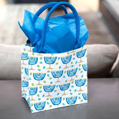 Hanukkah Blue Itsy Bitsy Gift Bags, Pack Of 4 (Price is per Bag) - 8/25