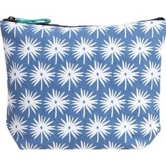 Palmetto Blue Relaxed Large Canvas Pouch