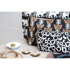 Ari Black Relaxed Large Canvas Pouch