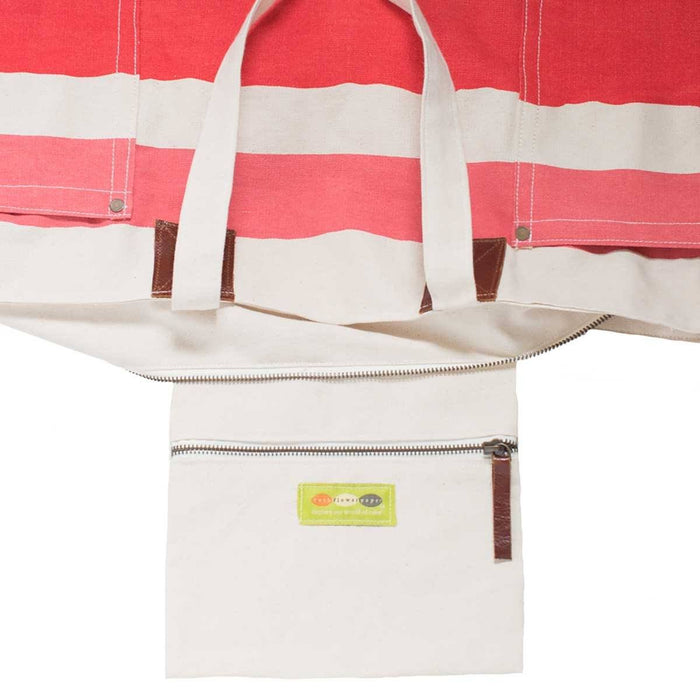Painterly Stripe Pink Relaxed Canvas Tote Bag - rockflowerpaper LLC