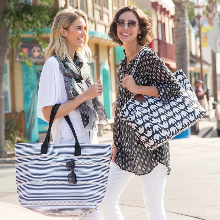 Uma Black Relaxed Canvas Tote Bag - rockflowerpaper LLC
