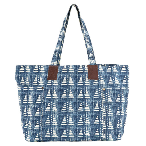 Bahati Blue Relaxed Tote - rockflowerpaper LLC
