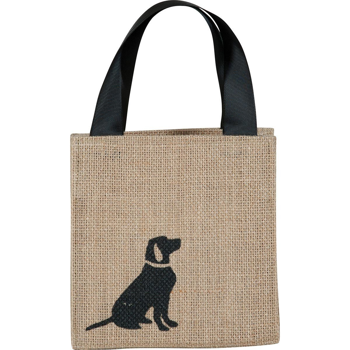 Lab Black Medium Jute Itsy Bitsy Gift Bags