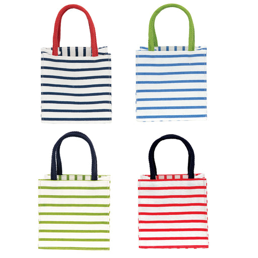 Bateau Stripes Medium blu Itsy Bitsy, Pack of 4 (Price is per Bag) - rockflowerpaper LLC