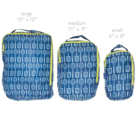 Wimbledon Navy Blu Bag Travel Cubes - Set of Three