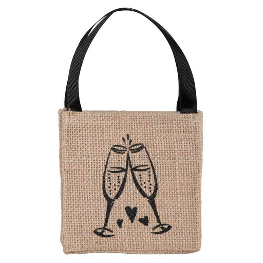 Champagne Mini Jute Itsy Bitsy Gift Bags, Pack of 10 (Price is per Bag) - rockflowerpaper LLC
