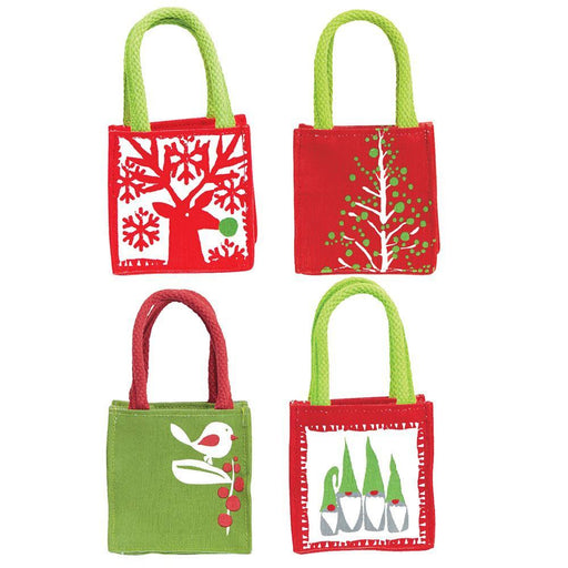 Scandi Holiday Red Small Itsy Bitsy Gift Bags, Pack Of 8 (Price is per Bag) - 8/25 - rockflowerpaper LLC