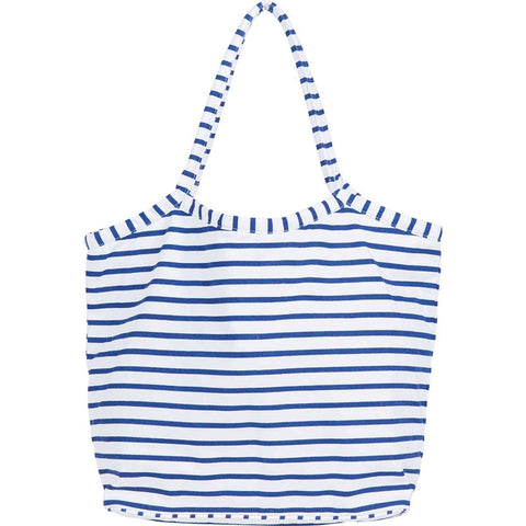 Bateau Stripe Navy Beach Bucket Bag