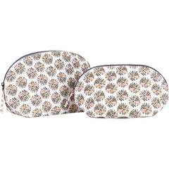 Pom Pom Tan Cosmetic Bags - Set of 2