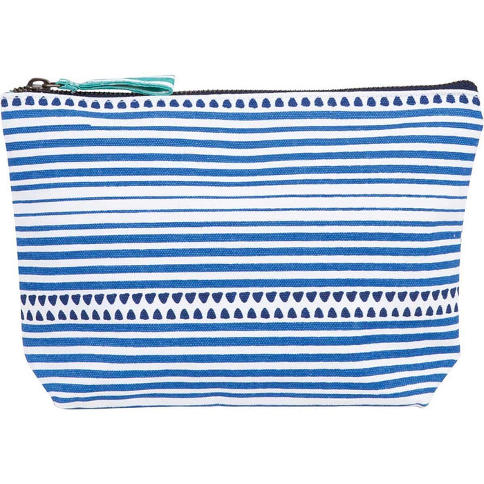 Bethany Blue Relaxed Medium Canvas Pouch - rockflowerpaper LLC