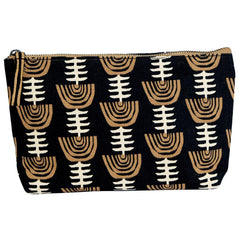Naomi Black Relaxed Medium Canvas Pouch