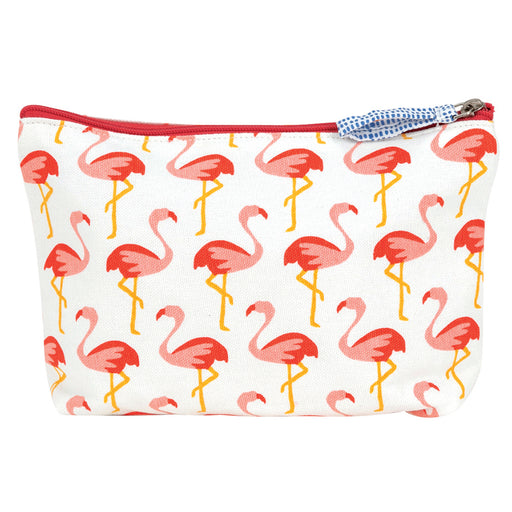 Pink Flamingos Medium Relaxed Pouch - rockflowerpaper LLC