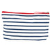 Bateau Stripe Navy Medium Relaxed Pouch - rockflowerpaper LLC