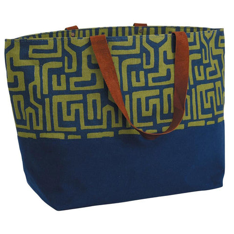 Jess Navy Canvas Carryall Tote Bag