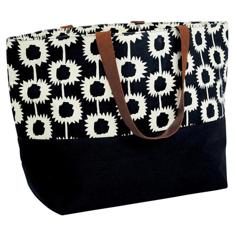 Blake Black Canvas Carryall Tote Bag