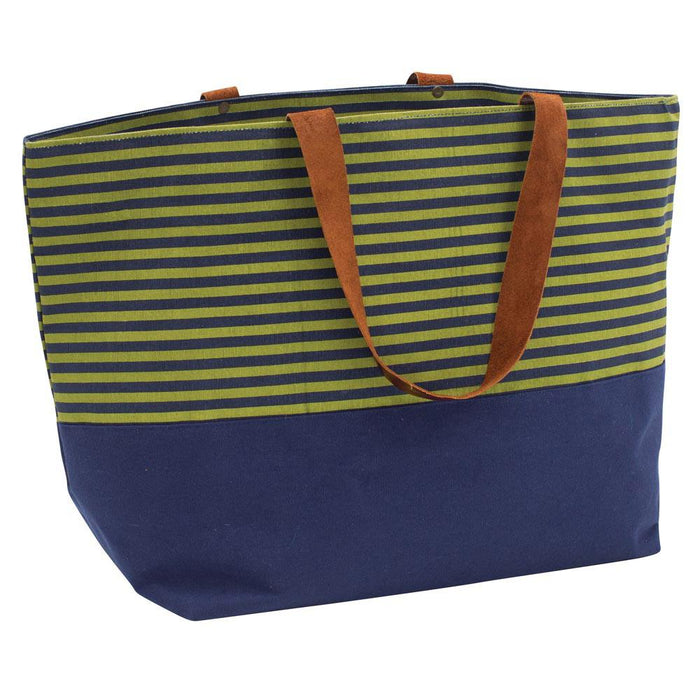 Evelyn Olive Canvas Carryall Tote Bag - rockflowerpaper LLC