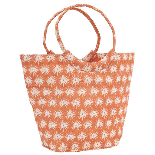 Palmetto Orange blu Jute Bucket Bag - rockflowerpaper LLC